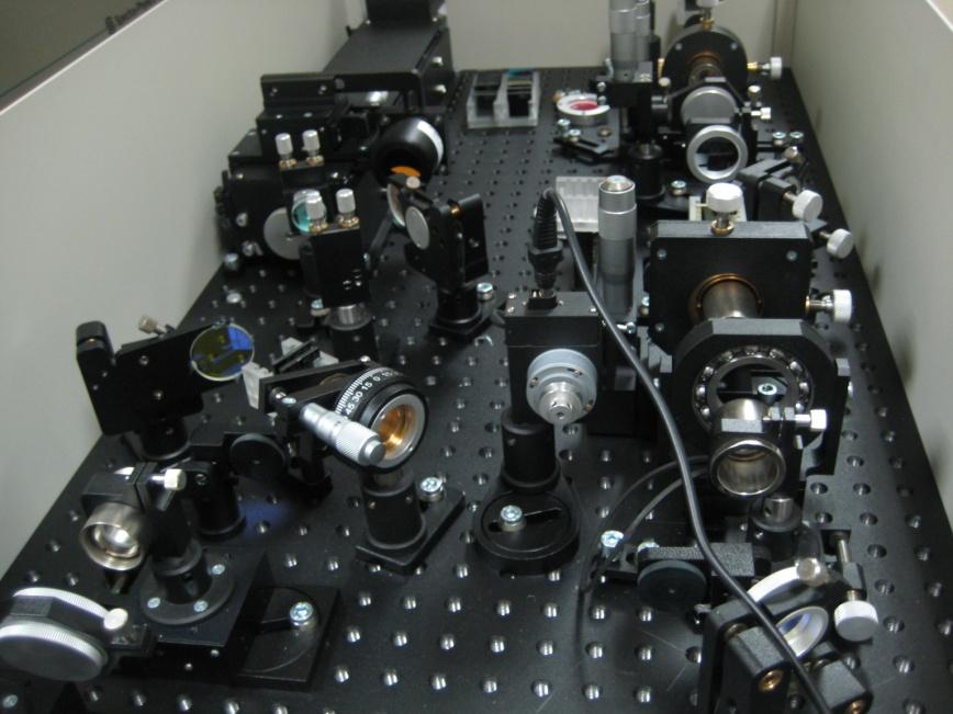 The fs upconversion set-up